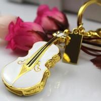 Freeshipping jewelry usb dirve Hotsale Unique Elegant 1GB/2GB/4GB/8GB/16GB/32GB Crystal Violin Usb Flash Drive Pen Drive F-H006