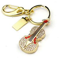 Gift jewelry Violin usb flash drive 2GB 4GB 8GB 16GB 32GB USB 2.0  Memory Flash Pen Drive Guitar F-H060