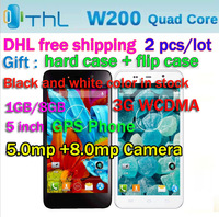 2 pieces/lot Original New THL W200 5inch IPS Android 4.2 1GB RAM 8GB ROM MTK6589T Quad Core 1.5Ghz Unlocked Smartphone MTK6589T