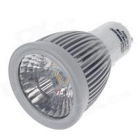 GU10 8W 800lm 3000K COB LED Warm&Cool White Light Lamp Bulb -Silver + White 85~265V