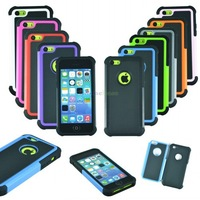 Heavy Duty Dual Layer Silicone Rugged Protective Case Cover for Apple iPhone 5C Free Shipping Wholesale