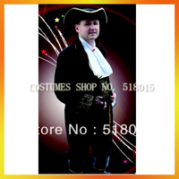 Free Shipping Deluxe Man Black Medieval Costumes AEMC-0618