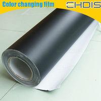 matte black auto full body color change film with size 1.52x30m matt black color film