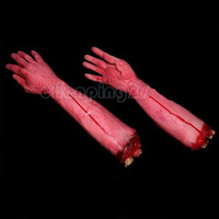 2014 New Hot Halloween Decoration Hanging Window Door Prop Fake Decor Bloody Arm