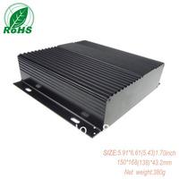 XDM05-29 aluminum enclosure wall mounting aluminum project box 150*168(138)*43.2mm 5.91*6.61(5.43)1.70inch