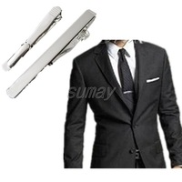 10pcs/lot Wholesale Fashion Tie Clip New Mens Boys Copper Silver Simple Clasp Bar Weeding Xmas Gift Free Shipping