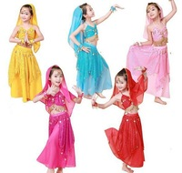 5 Colors New 2014 Choffin Kids Belly Dance Costume Set Performance Indian Bollywood Cloth Children Dancing Clothing Costome