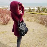 Alu kojah limited cashmere overcoat marten velvet sweater large cap cardigan marten velvet outerwear