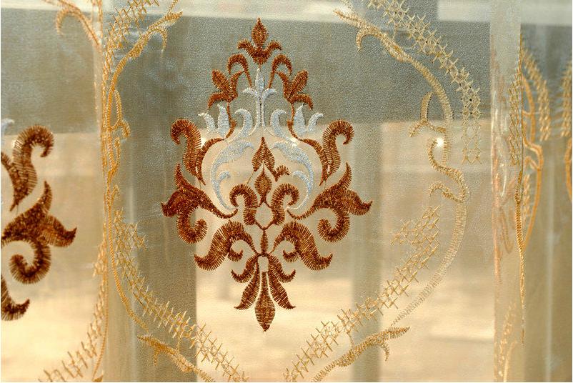 o cego 2013 borla moda de qualidade jacquard bordado cortinas de telas nas janelas tecido casa deocration gazes tecido(China (Mainland))