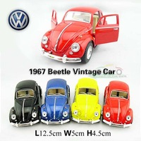 1:32 Volkswagen Beetle 1967 Classic vw Cars Kids Antique Model Toys Car Classic Vintage Alloy Car Model Wholesale Free Shipping