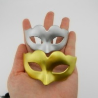 Novelty Super cute mini mask venetian masquerade Party Decoration Christmas gift Black White Gold Silver free shipping