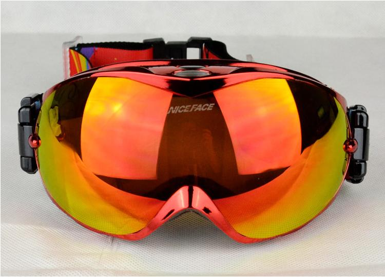 2014 New Dual PC lens Dual layer foams Anti-fog, 100% uv protection Red Polarized ski goggles/Snowboards & Skis eyeswear(China (Mainland))