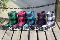 2013 Rubber duck plaid autumn and winter thermal slip-resistant waterproof snow boots