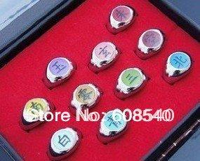 - 10PCS-font-b-Naruto-b-font-Black-Akatsuki-Ring-Set-Sasori-Itachi-font-b-Hidan-b