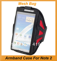 New Arrival Sport Armband Case With Mesh Bag Design For Samsung Note2/N7100 Multipls Color Gym Active Armband.Free Shipping