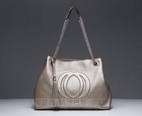 free shipping 2013 new arrival 100% high quality genuine leather hand made soho tote soho handbag famous brand soho bag