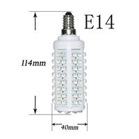 High Power 7W  E14 108 LED Warm&Cool Corn Light Bulb Lamp 110V-120V