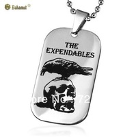 2013 new Titanium Steel jewelry The Expendables Skull Pendant Fashion Necklace For Men Free Shipping