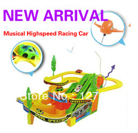 Free shipping Hyperspeed toy car electric track toy highspeed racing car musical child educational toys