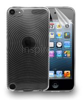 Free Screen Protector! Circles Series Jelly Gel Case for Apple iPod Touch 5 5th Gen Generation Free Shipping!