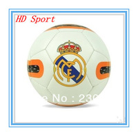 New Arrive Official Match Football Ball Badge Soccer Real Madrid Football Yellow And White Balls Free Shipping