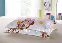 New fashion 100% cotton 3 pcs cartoon duvet cover set,twin size mickey minnie mouse duvet/quilt cover with 2pcs pillowcase