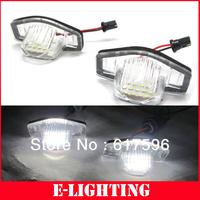 LED Number License Plate Light Xenon White for HONDA JAZZ FIT MK1 MK2 2001-Present