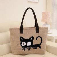 Women's handbag 2013 women's handbag female shoulder bag big bag cat bag