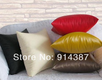 Contracted and contemporary environmental PU leather waterproof five-color sofa cushion for leaning on lumbar pillow pillow