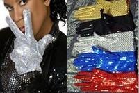 FREE SHIPPING Mj paillette gloves child hip-hop gloves parent-child double