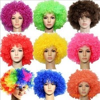 FREE SHIPPING 125 photography props ball clown . kinkiness big , fans wig chromophous Large afro   wholesale also