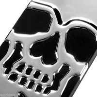 1PCS Hard Hybrid Case Silicone Cover Silver Black Skull for iPhone 5C,Free Shipping+Retail