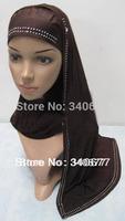 2013 New Style Rhinestones Design Concise,Elegance Muslim Hijab,Fahsion Islamic Scarfs,Free Shipping