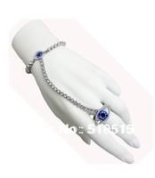 Mariah Carey Madonna Crystal Chain Leona Lewis Blue Evil Eye Bracelet