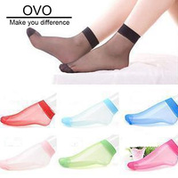 OVO!2013 new Hot girls lace Slim sock ice silk thin fashion boat women socks 1LOT=10PAIRS=20PIECES,B004 free shipping