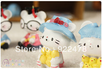 Creative gifts/home resin crafts Lovely cats/kitty toys 6pcs/lot