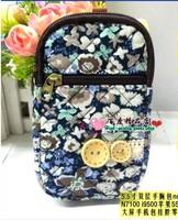 Free shipping Mobile phone cloth bag  for iphone 4s 5 htc samsung wrist length bag halter-neck bag arm female bag