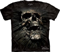 THE MOUNTAIN 3D T-Shirts Three-dimensional creative Scary Skull pattern o-neck For men 2013 new Free Shipping