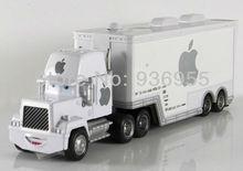 Free Shipping Pixar cars 2  Apple white  Hauler Mack truck cars Diecast  Metal Toys model(China (Mainland))