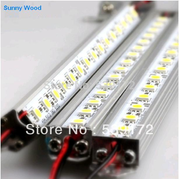 1m length/pc LED Bar Light 72pcs/m SMD 5050 V-shape Warm White color IP20 LED hard strip Epistar LED 3year warranty(China (Mainland))
