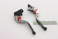 Folding& Adjusting Brake Clutch Levers For Kawasaki ZX6R ZX636R ZX6RR 2000-2004 Titanium Color