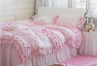 4pc princess bedding set queen lovely bed set and comforter unique duvet covers/bedclothes