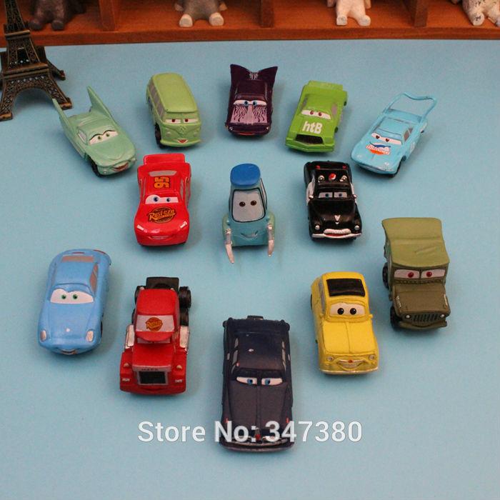 Free Shipping 5set/Lot(14pcs=1set) High Quality PVC NEW 14 pcs Pixar Car Figures Full Set For Gift Wholesale(China (Mainland))