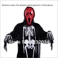 Children's day masquerade costumes adult children clothing props skeleton skeleton ghost devil masks