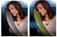 2013 Creative L-Type Velvet Inflatable Neck Rest Pillow Travel Pillow As Seen On Tv  for shipping