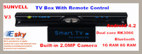TV Box Sunvell V3 Built-in Camera Microphone Android 4.2 Dual core RK3066 1G RAM 8G ROM WIFI with Remote