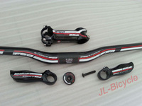 Specials! New K-Force Carbon fiber MTB Mountain Bicycle handlebar+stem+bike Top Cap+Carbon fiber bar ends handlebar