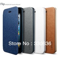 Free shipping+Ultra Thin Flip SGP Wallet Leather Case For apple iphone 4 4S Phone Bags and cases