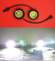 High power 18W 35W 60mm Motocycle Car led Eagle Eye Light Headlamp Rear Back warning DRL with Ballast control