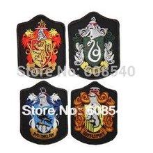 4Pcs/set Harry Potter School Crest Iron on Patch Slytherin,gryffindor,hufflepuff,ravenclaw,hogwarts Large Badge AE00042(China (Mainland))